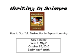 Writing in Science pp - Butler County Schools