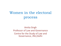 Women in the electoral process JNU