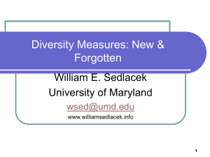 Diversity Measures: New and Forgotten