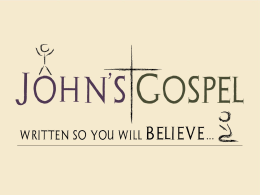 Intro To The Gospel Of John