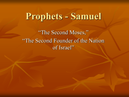Prophets - Samuel - Midway Church of Christ