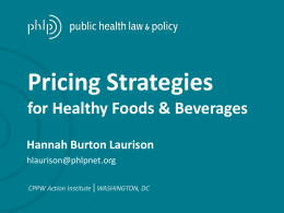 CPPW AI Pricing Strategies for Healthy Foods and
