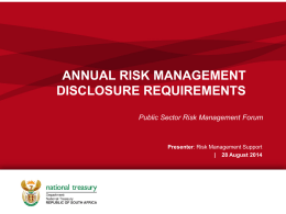 Annual RM Disclosure Requirements 28 Aug