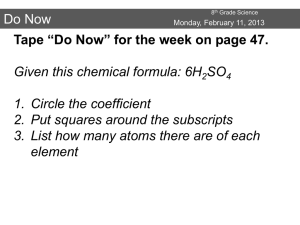 Do Now - O. Henry Science