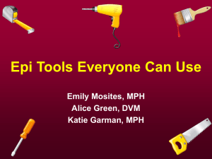 Epi Tools - the Tennessee Department of Health