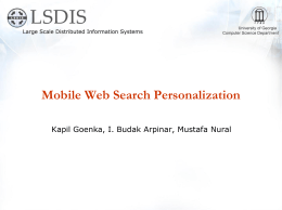 Mobile Web Search Personalization