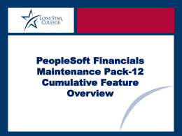 Maintenance Pack 12 Overview