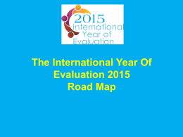 Evaluation Year 2015