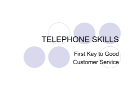 Answering and Responding to Telephone Calls