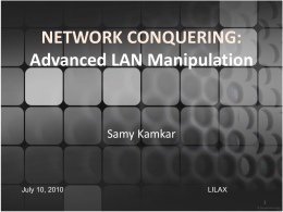 TCP packet - Samy Kamkar