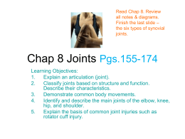 Chap 8 Joints