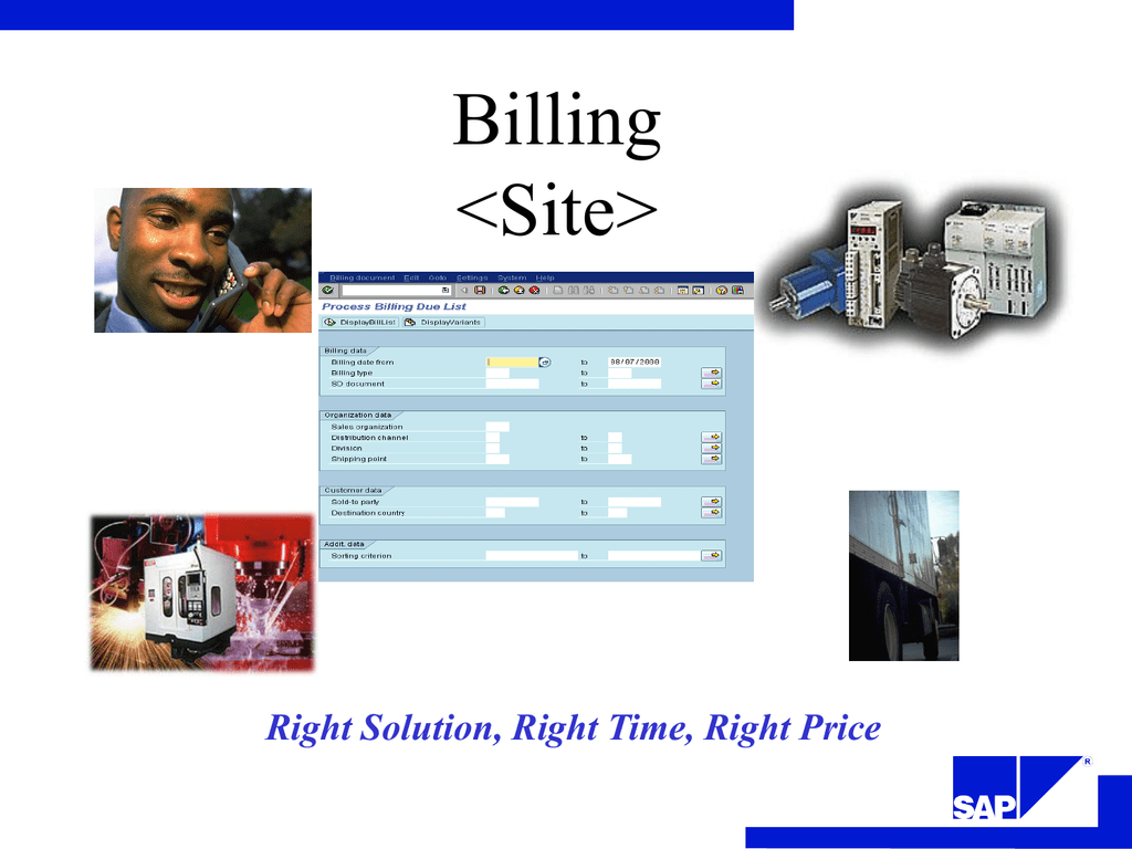 SAP Billing Processing