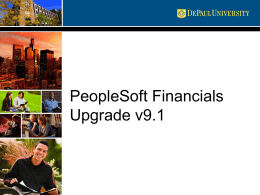 PeopleSoft Upgrade Overview