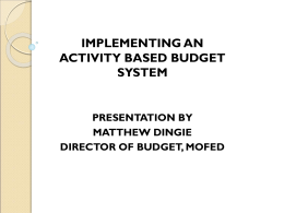 implementing an activity based budget system presentation by