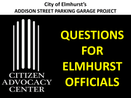 Addison St. Slide Show - Citizen Advocacy Center