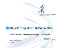 XML4IP Project- ST.96 Preparation