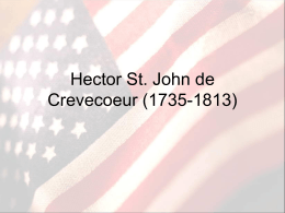 Hector St. John de Crevecoeur - Lake Mills Area School District