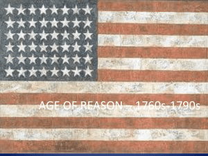 AGE OF REASON – 1760s