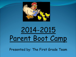 1st Grade Reading Bootcamp for Parents