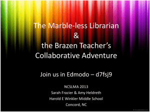 The Marble-less Librarian & the Brazen Teacher`s Collaborative