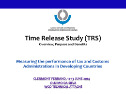 The WCO´Time Release Study