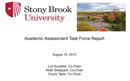 Powerpoint Academic Assessment TF Report