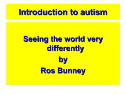 An Introduction to Autism for adult care staff