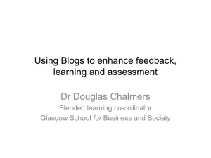 Using Blogs and Wikis to enhance learning and assessment