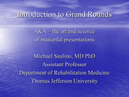 Introduction to Grand Rounds