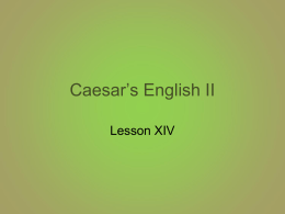 Caesar`s English II