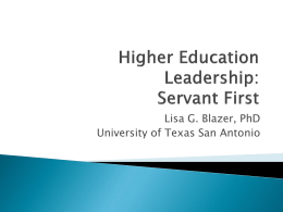 Leading in Higher Education