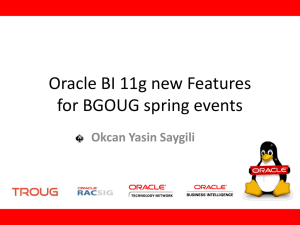 Oracle BI Features