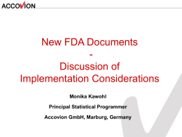 FDA Submissions-FDA Documents-Discussions