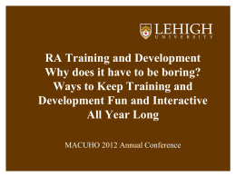 Training Management (new window)