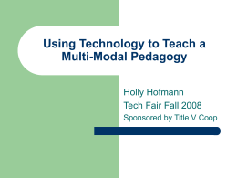 Using Technology to Teach a Multi
