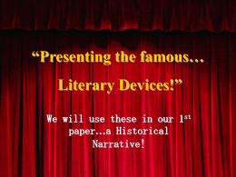 Let`s Explore Literary Devices!