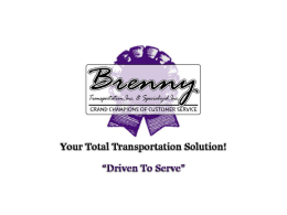 View our Sales Powerpoint - Brenny Transportation, Inc.