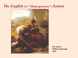 Sonnet 18 Shall I compare thee to a summer`s day? Thou art more