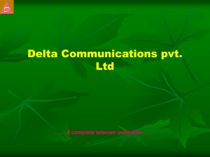 Presentation - Delta Technocreations Pvt Ltd.