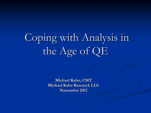 Coping with Analysis in the Age of QE