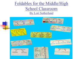 Foldables for the Middle-High School Presentation