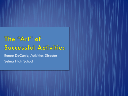 The ART of Successful Activities Presentation