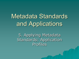 Building Metadata Application Profiles/2