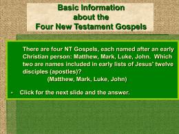 NT Gospels