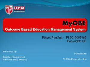 Outcome Based Education Management System