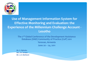 Use of Management Information System for Effective Monitoring and