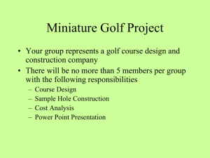 Miniature Golf Project