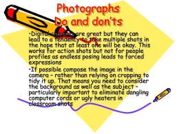 Photographs Do and don`ts