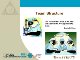 TS Module 2 Slides Team Structure