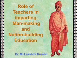 Role of teachers by Swami Vivekananda